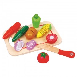 Conjunto de Vegetales para cortar de Madera
