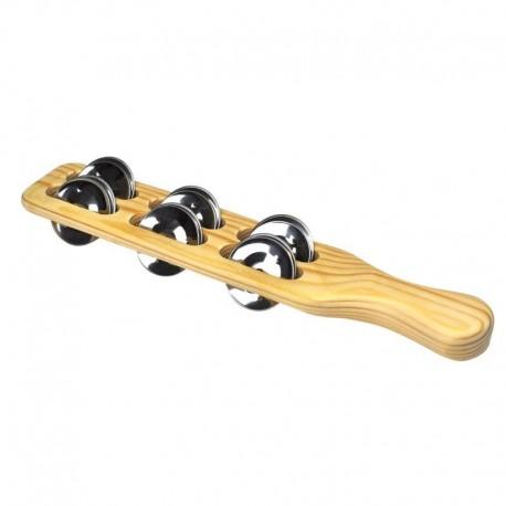 Instrumento con 12 Sonajas y mango de madera Voggy´s