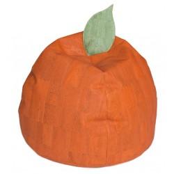 PUFF Naranja con Funda de Corcho Natural