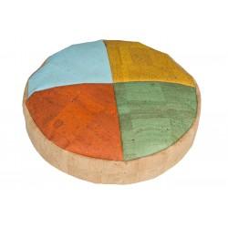 Almohadón Circular con Funda de Corcho 4 Colores